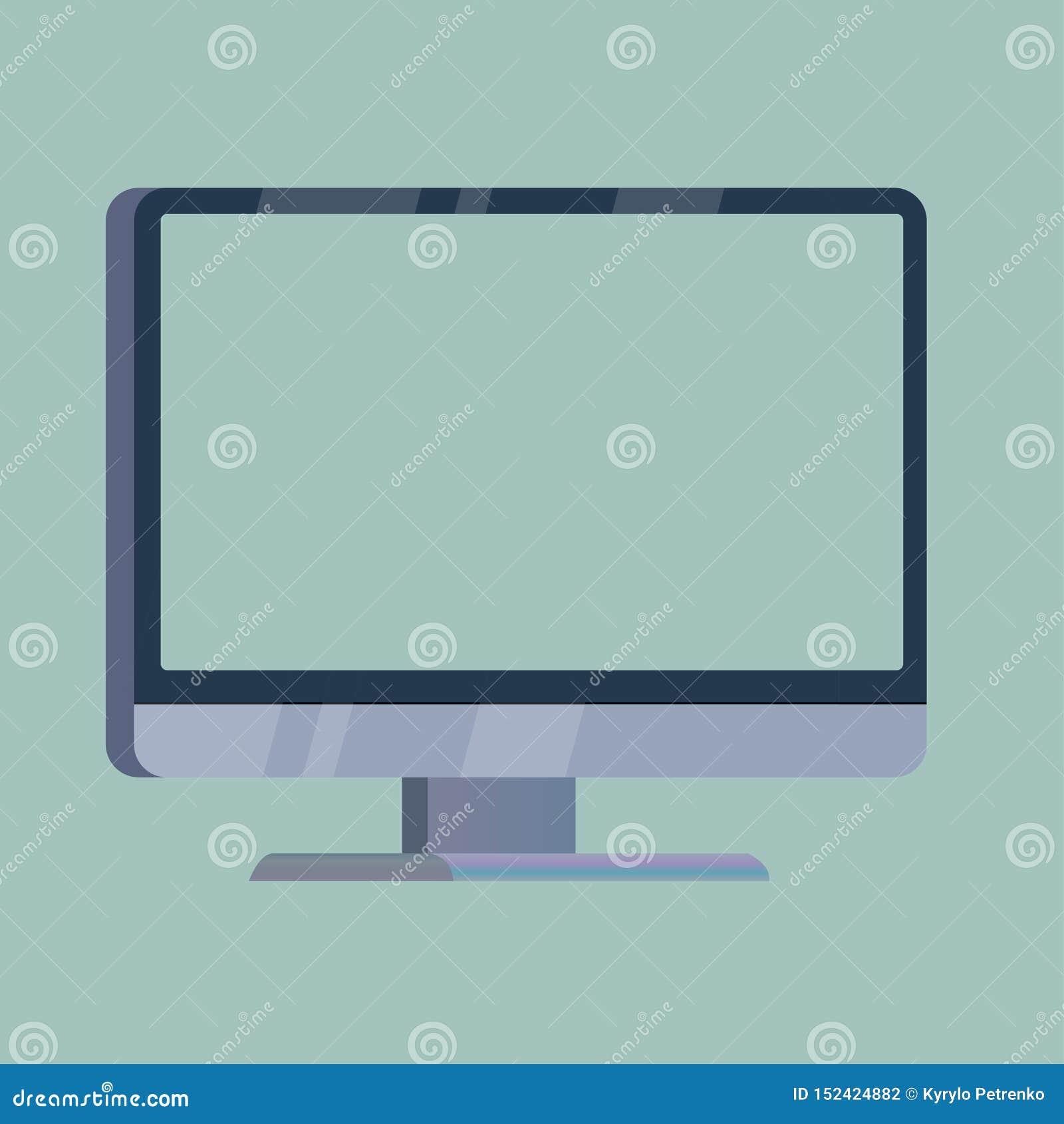 écran d ordinateur avec un affichage vide dessus