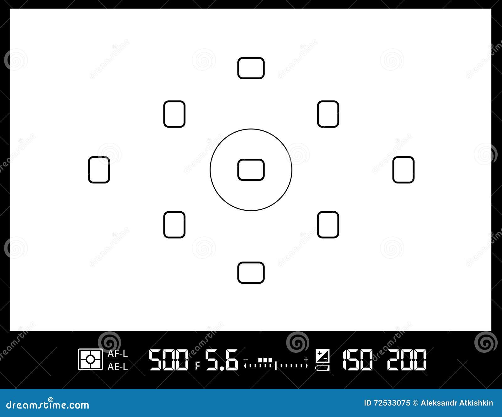 cran de viseur d 39 appareil photo illustration de vecteur. Black Bedroom Furniture Sets. Home Design Ideas