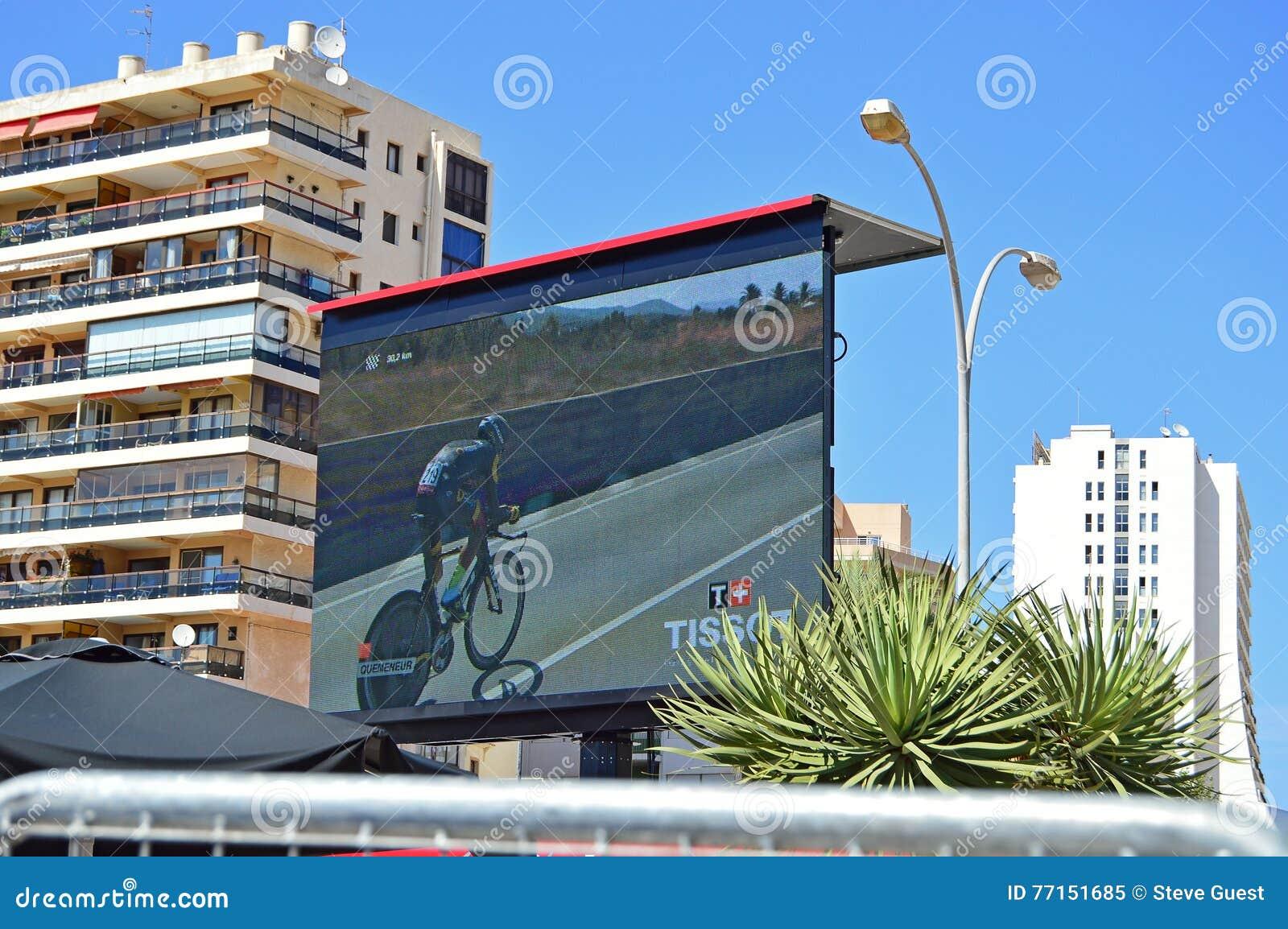 Écran géant à la La Vuelta España