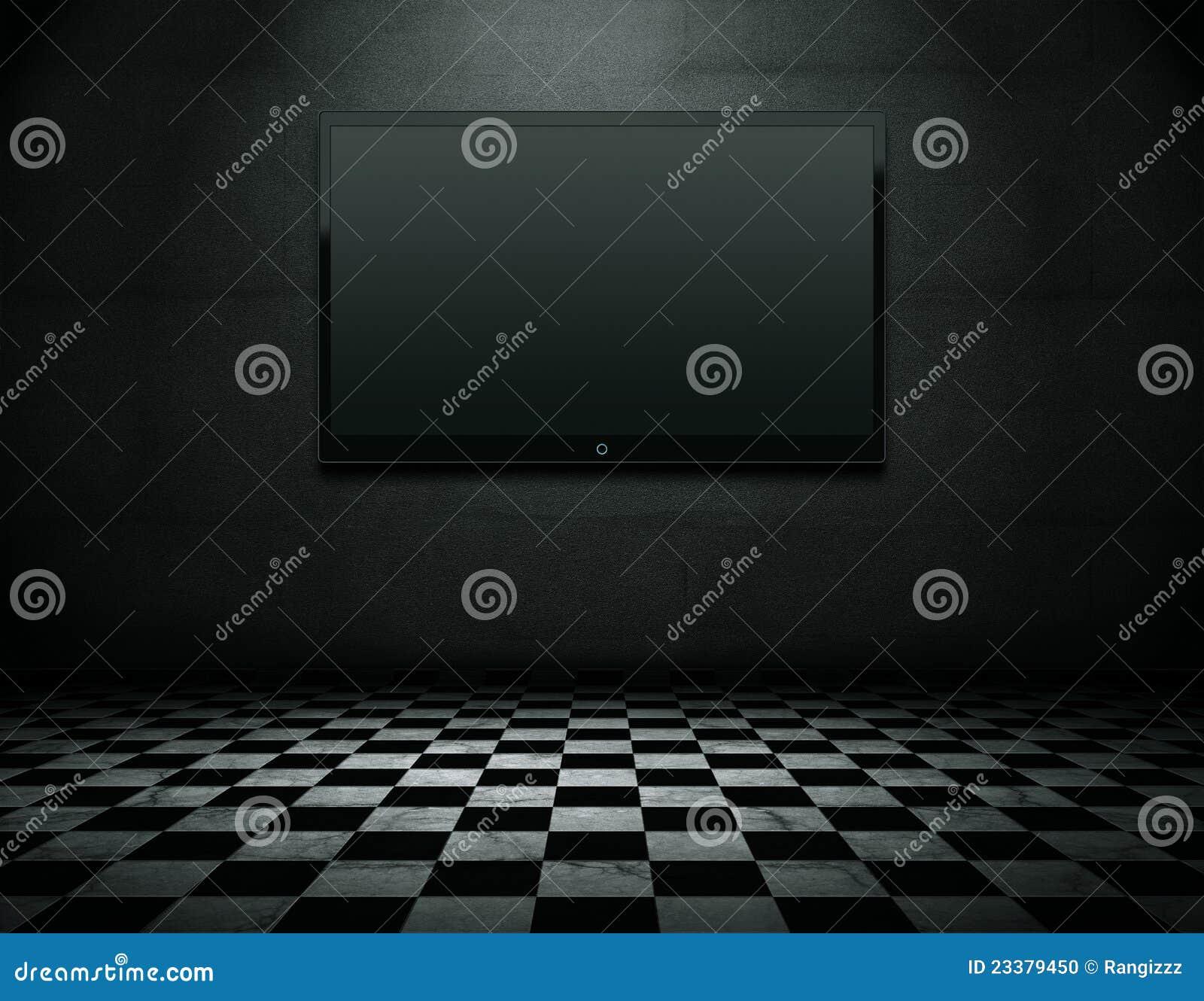 Écran plat TV avec le chemin de découpage