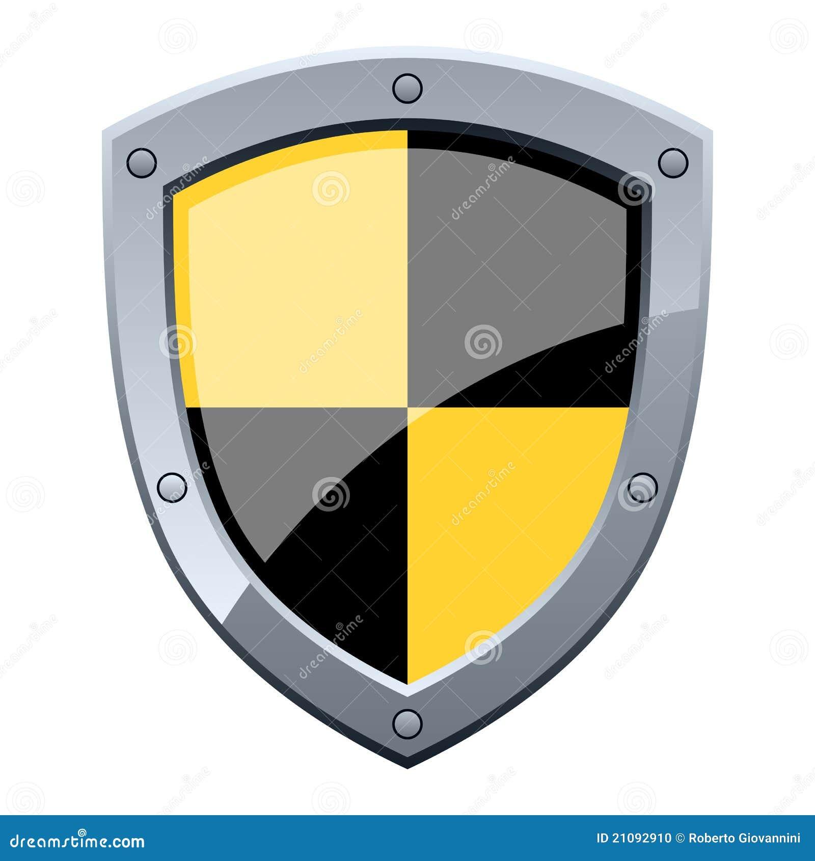 Écran protecteur noir et jaune de garantie