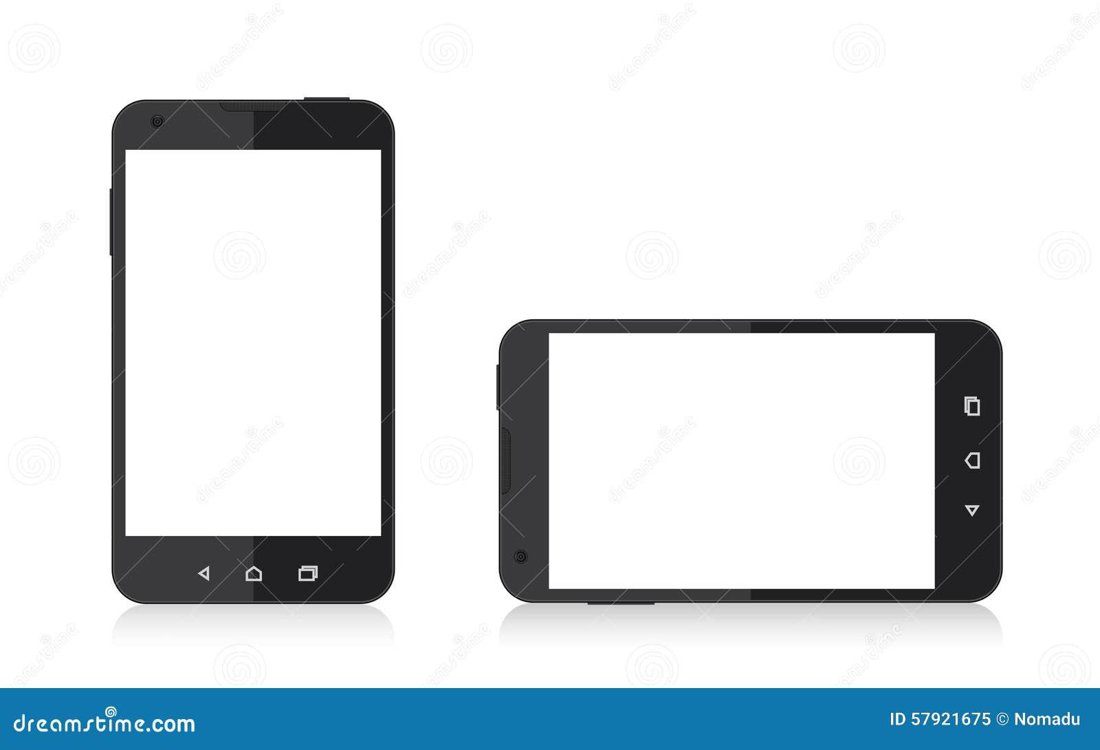 cran vide de t l phone portable illustration de vecteur image 57921675. Black Bedroom Furniture Sets. Home Design Ideas