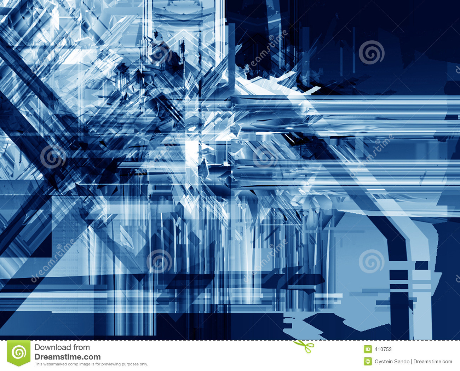 Écrasement bleu de glace