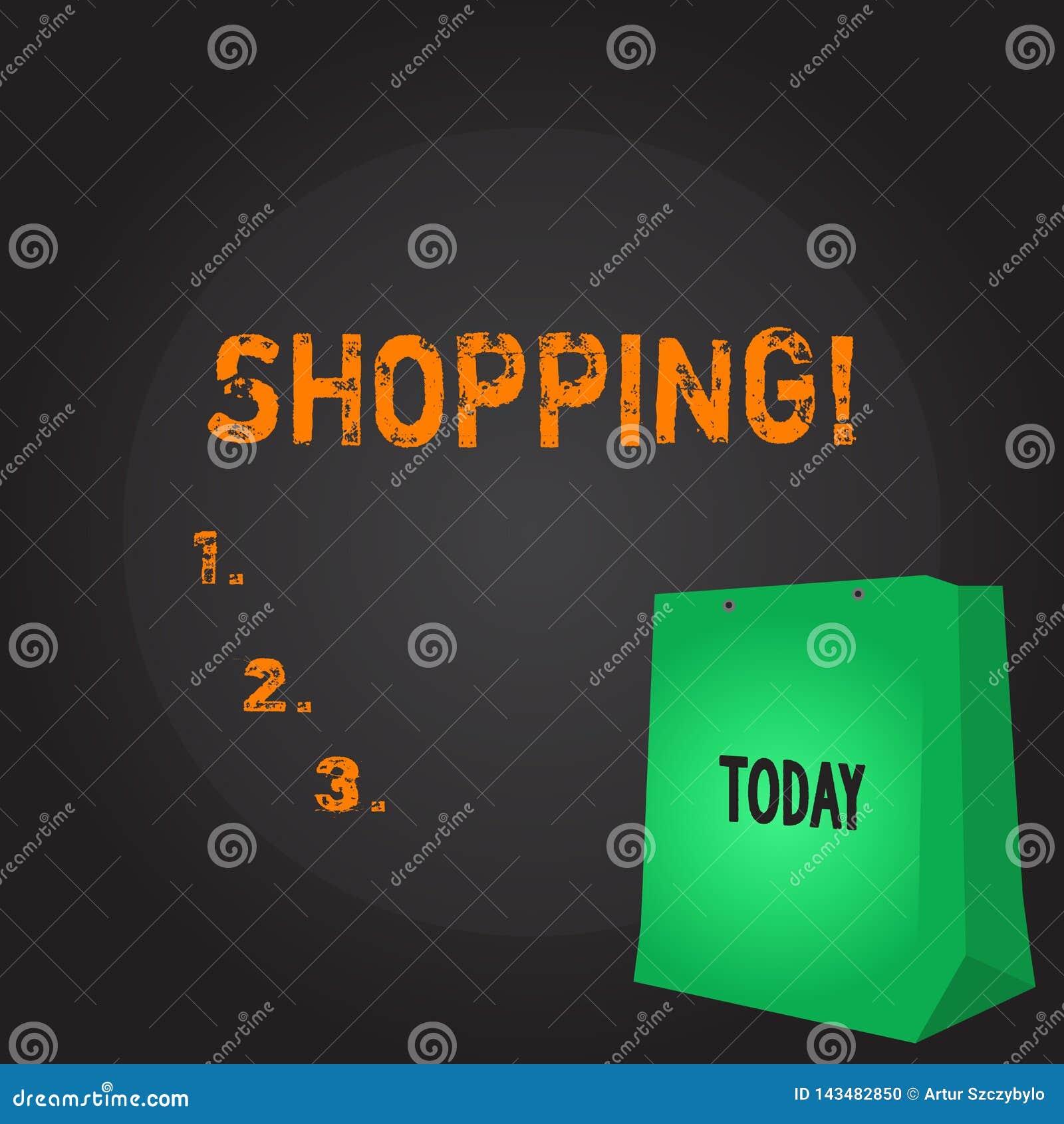 Écriture conceptuelle de main montrant des achats Magasin de présentation de produits de marchandises d achat de client de client