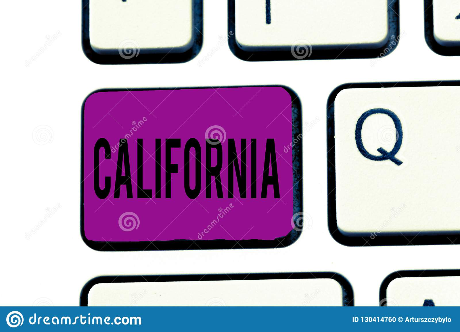 Écriture conceptuelle de main montrant la Californie État des textes de photo d affaires sur des plages des Etats-Unis d Amérique