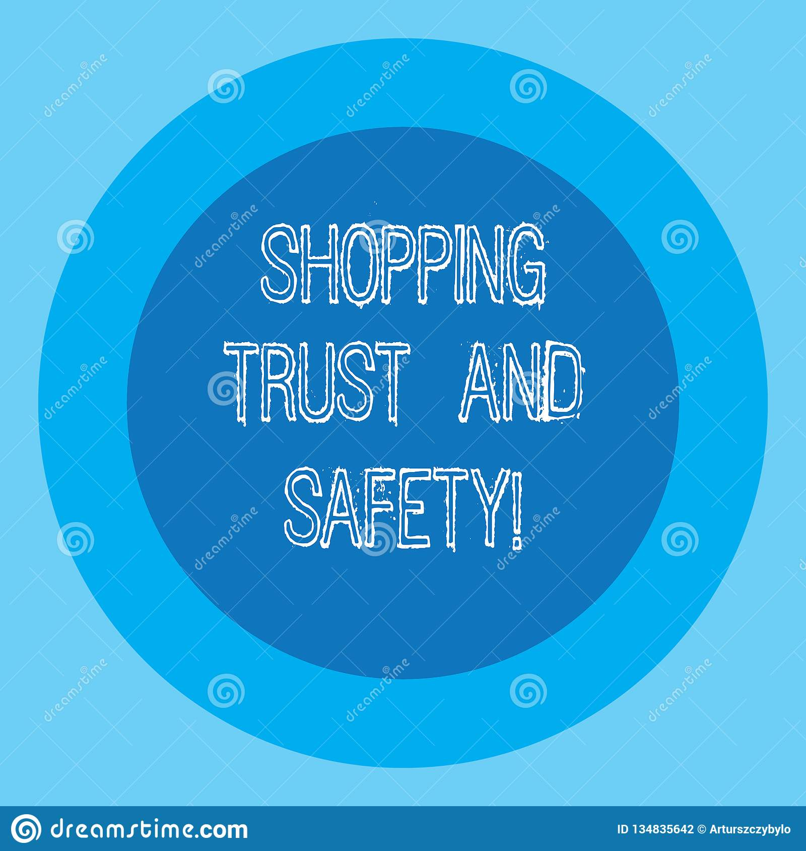 Écriture conceptuelle de main montrant la confiance et la sécurité de achat Sécurité des textes de photo d affaires aux services
