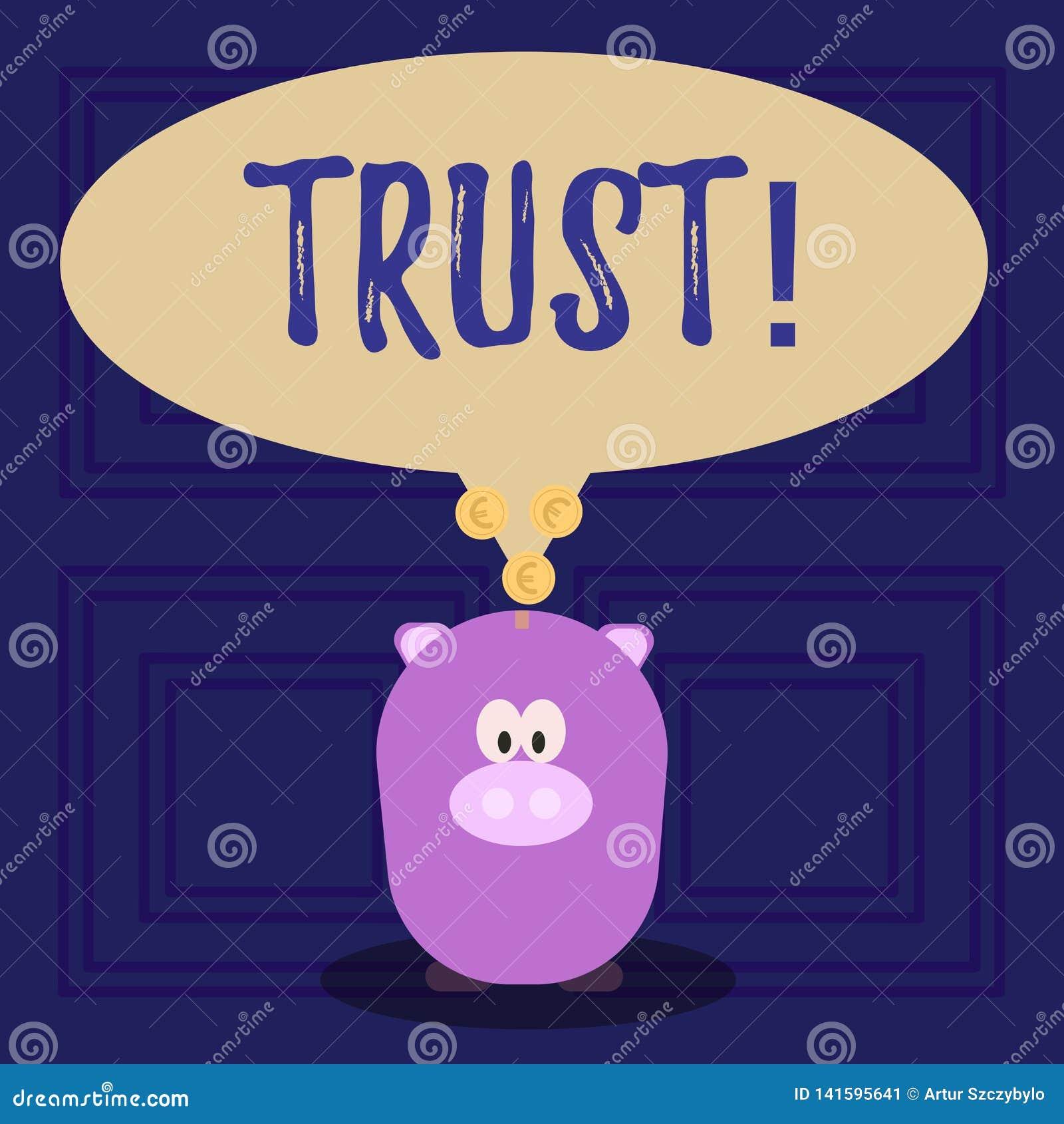 Écriture conceptuelle de main montrant la croyance des textes de photo d affaires de confiance dans la confiance de capacité de v
