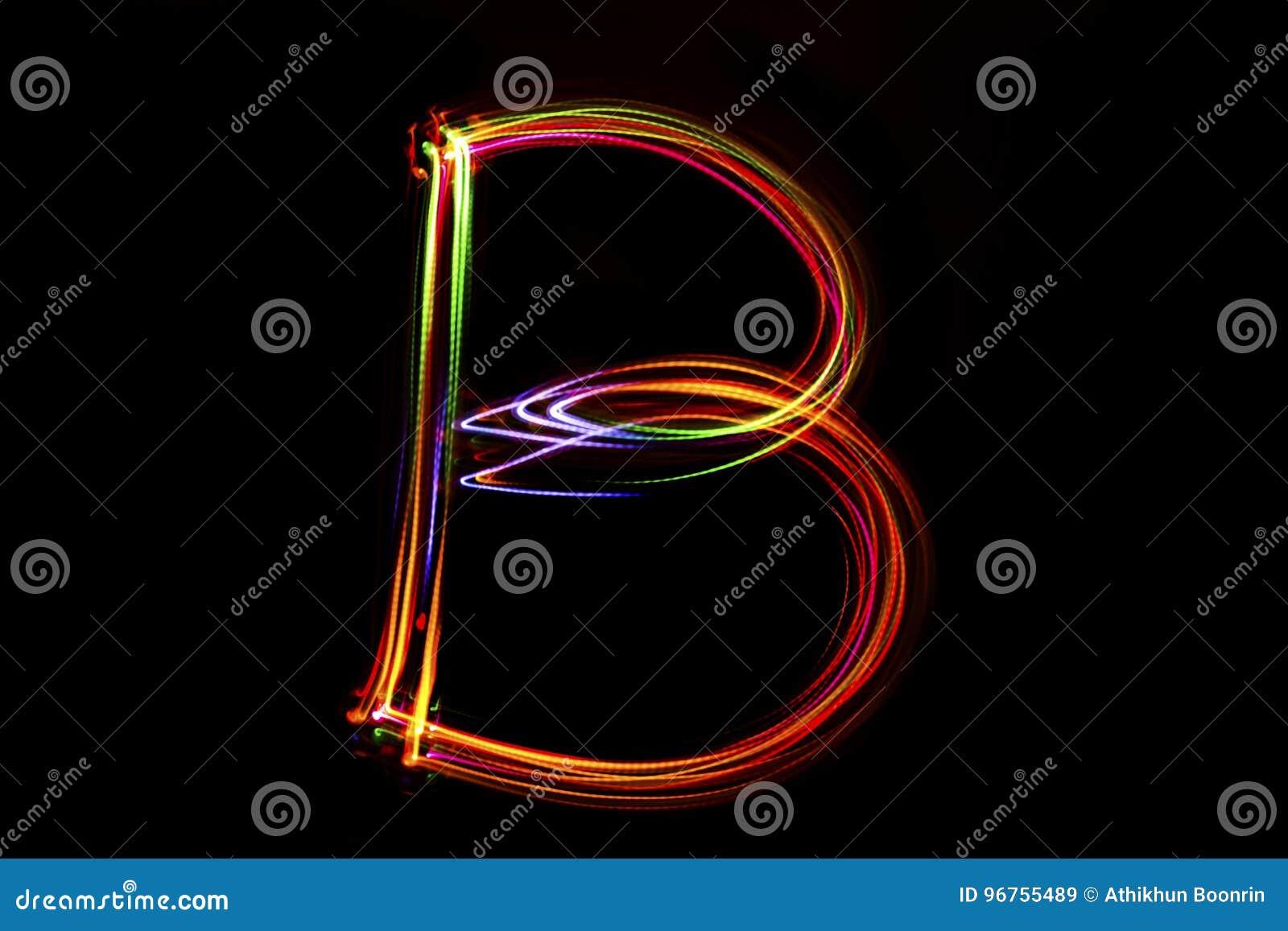 Écriture de ` du ` B de Word de lumière