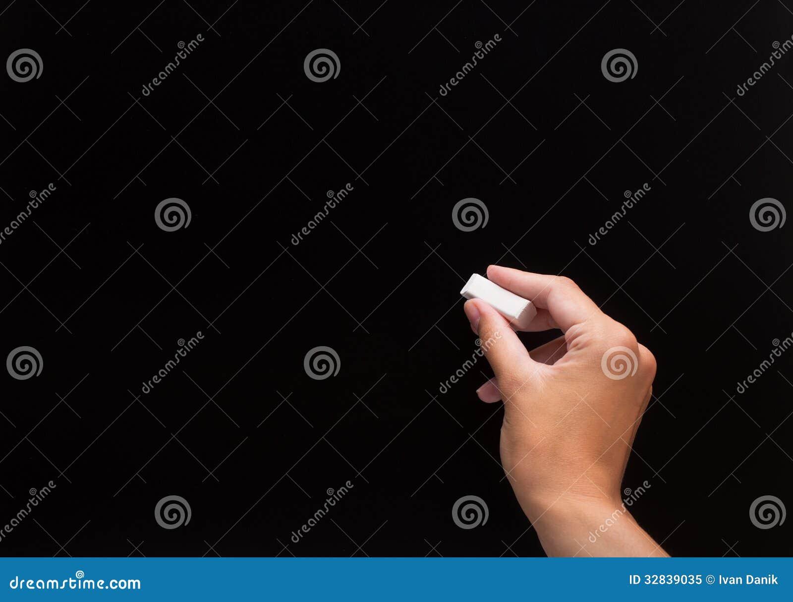 Criture de main avec la craie sur un tableau noir image stock image 32839035 for Ecrire sur un tableau noir