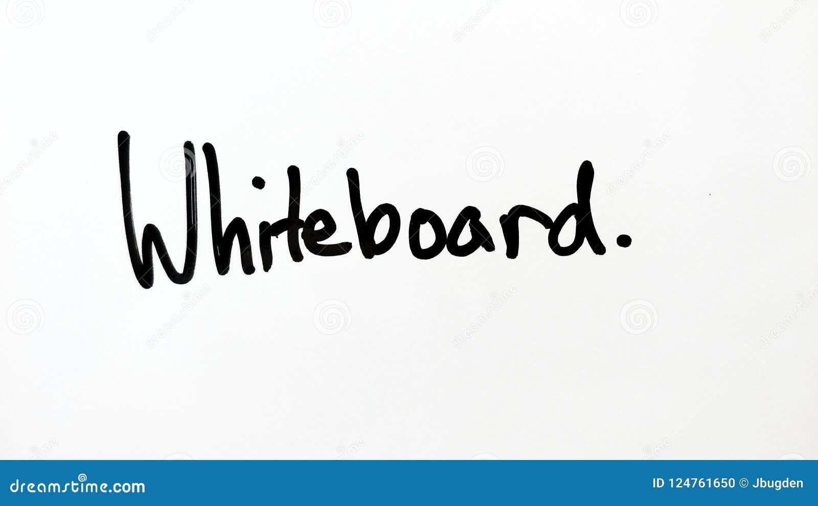 Écriture de marqueur de tableau blanc