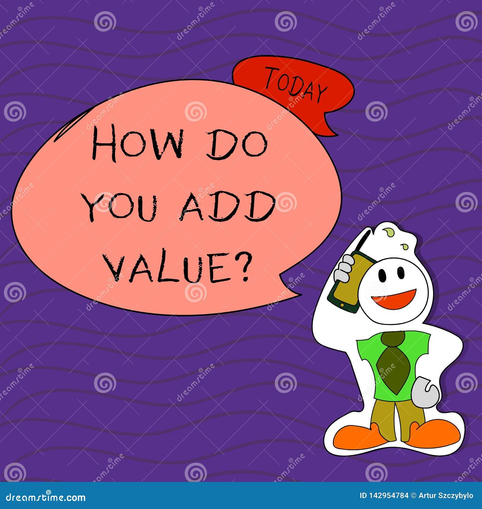 Écriture des textes d écriture comment vous ajoutez la question de valeur La signification de concept améliorent le processus de