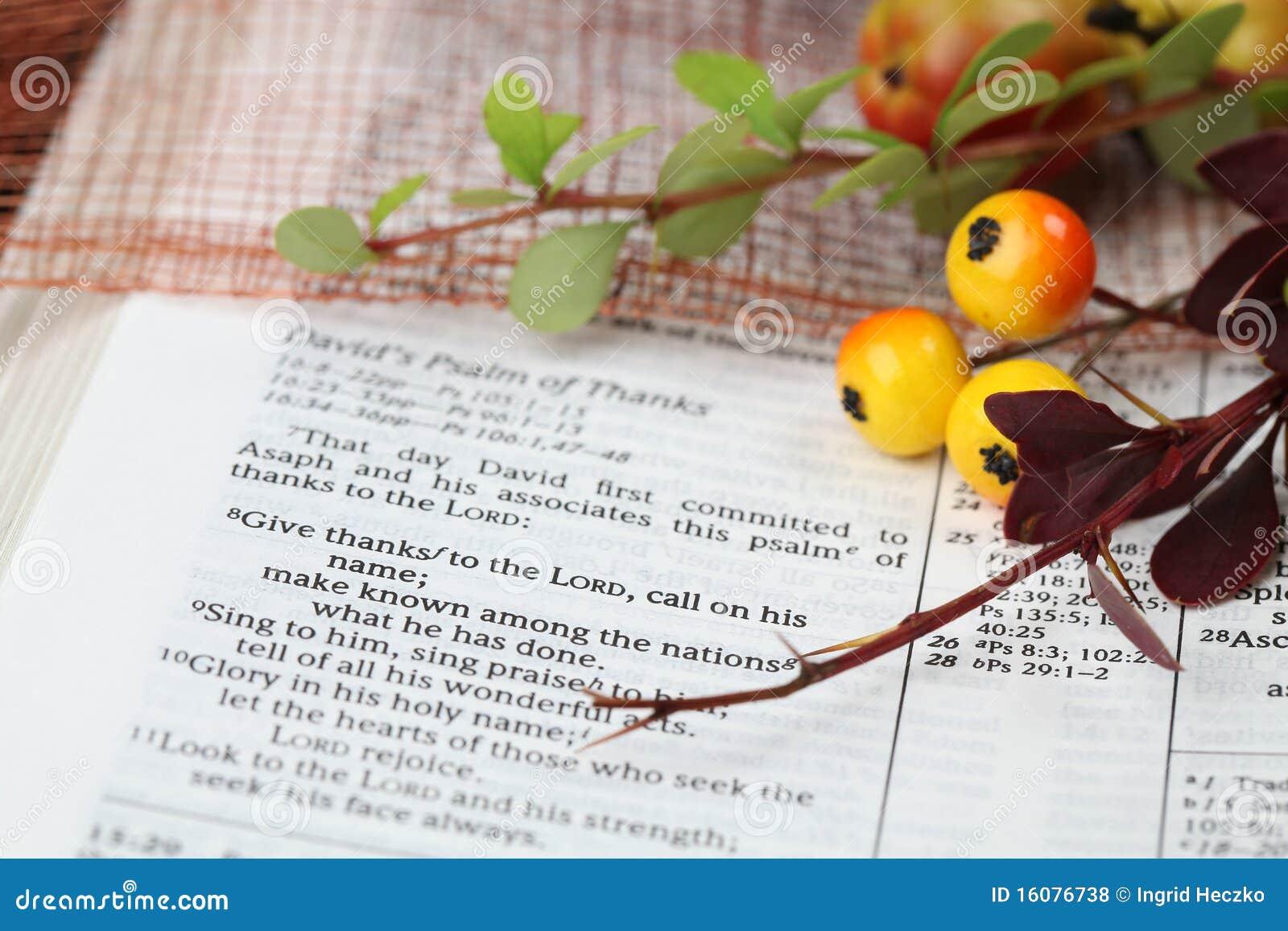 Écriture sainte d action de grâces