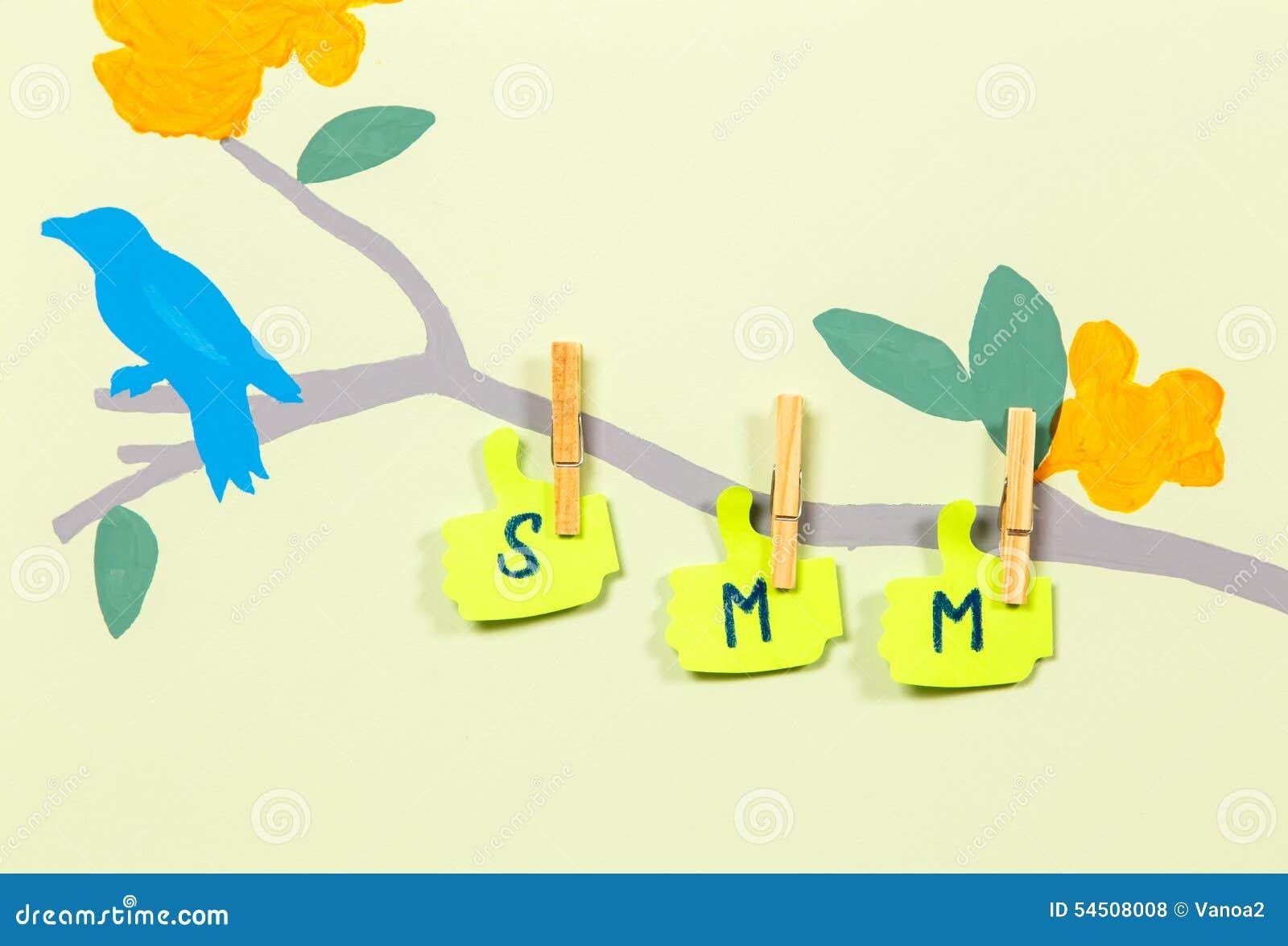Écriture SMM sur le tronc d arbre