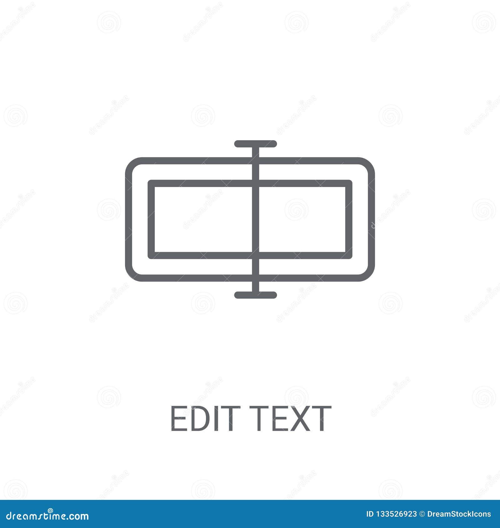Éditez l icône des textes À la mode éditez le concept de logo des textes sur le backgroun blanc