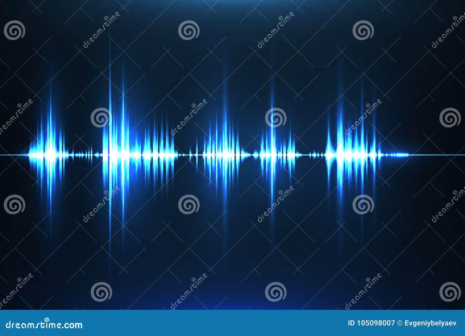 Égaliseur musical Onde sonore radio Illustration de vecteur