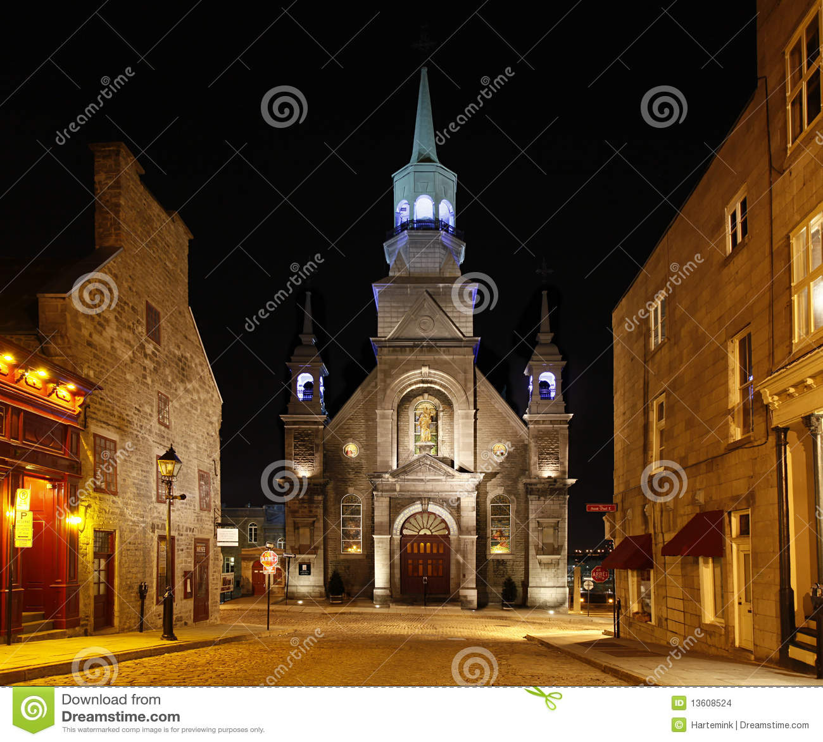 Église à vieux Montréal, Québec, Canada