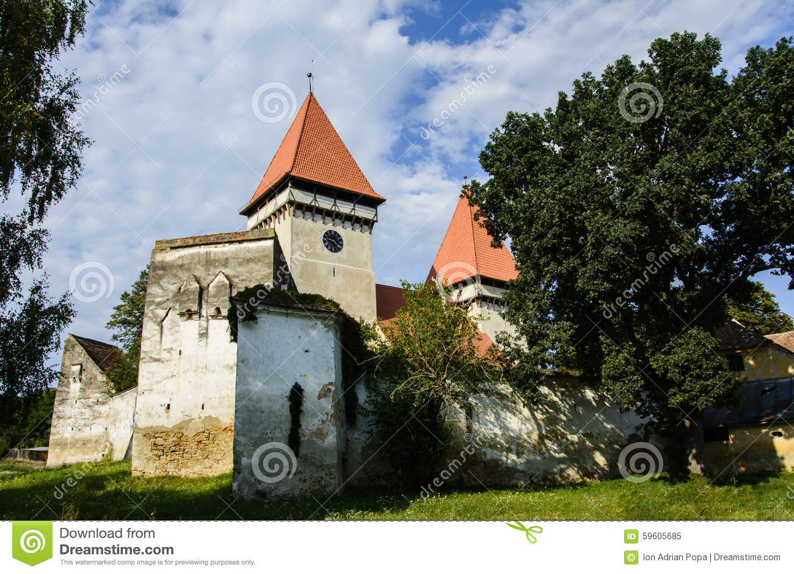 Église évangélique enrichie de Dealu Frumos, la Transylvanie, Roumanie