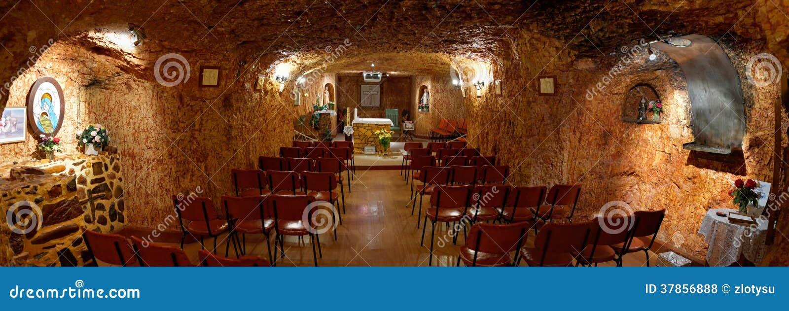 Église catholique souterraine dans Coober Pedy
