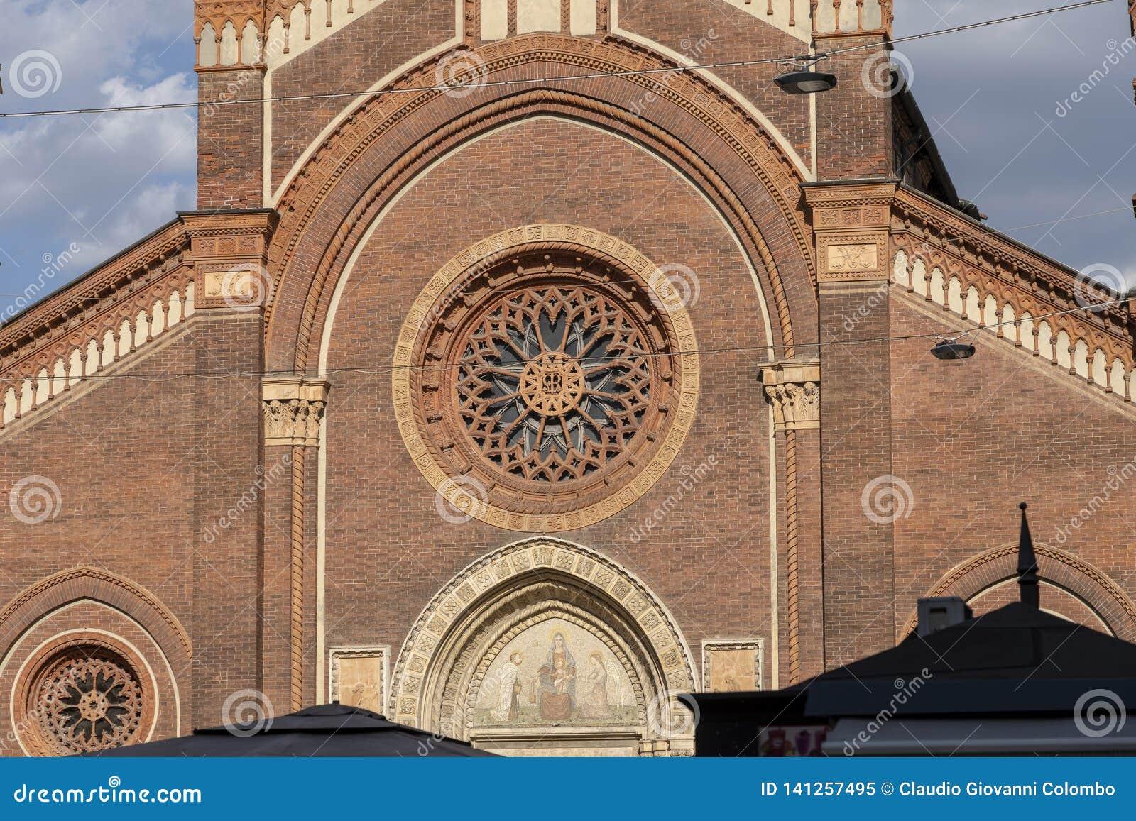 Église de carmin à Milan, Italie