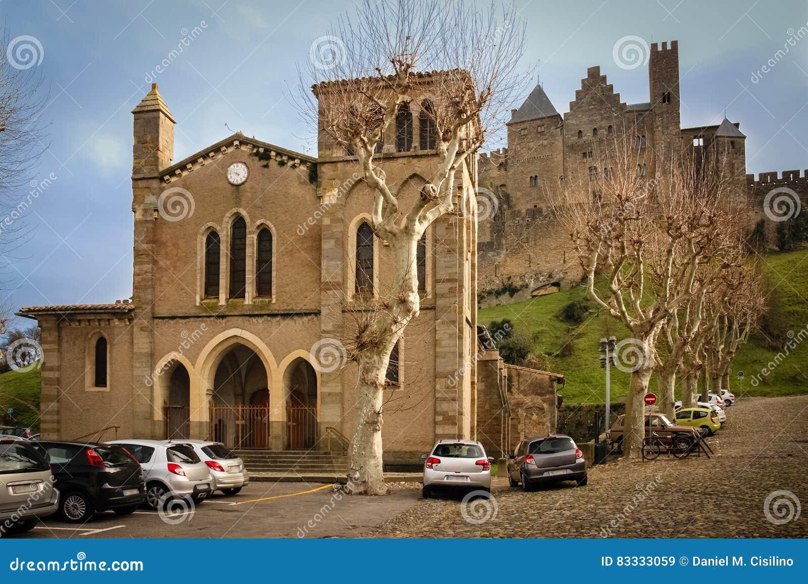 Église de Gimer de saint et château des comptes Carcassonne france