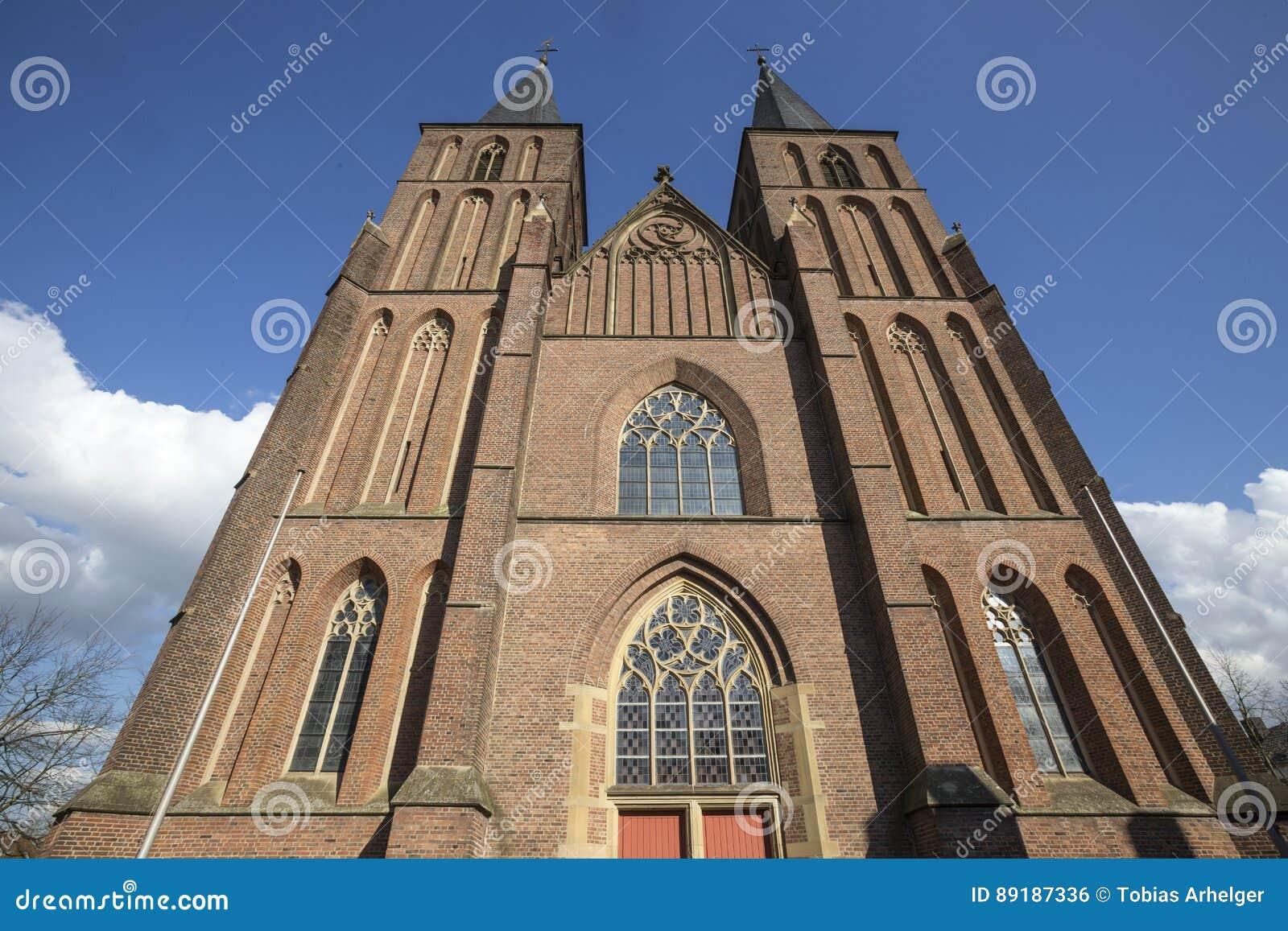 église de ville dans le kleve Allemagne