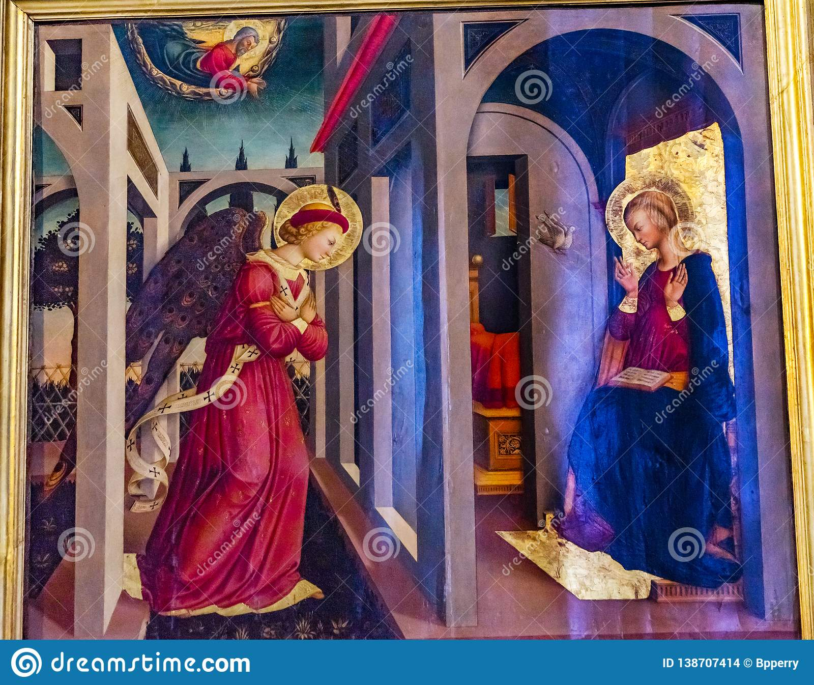 Église Florence Italy d Angel Mary Painting Santa Maria Novella d annonce