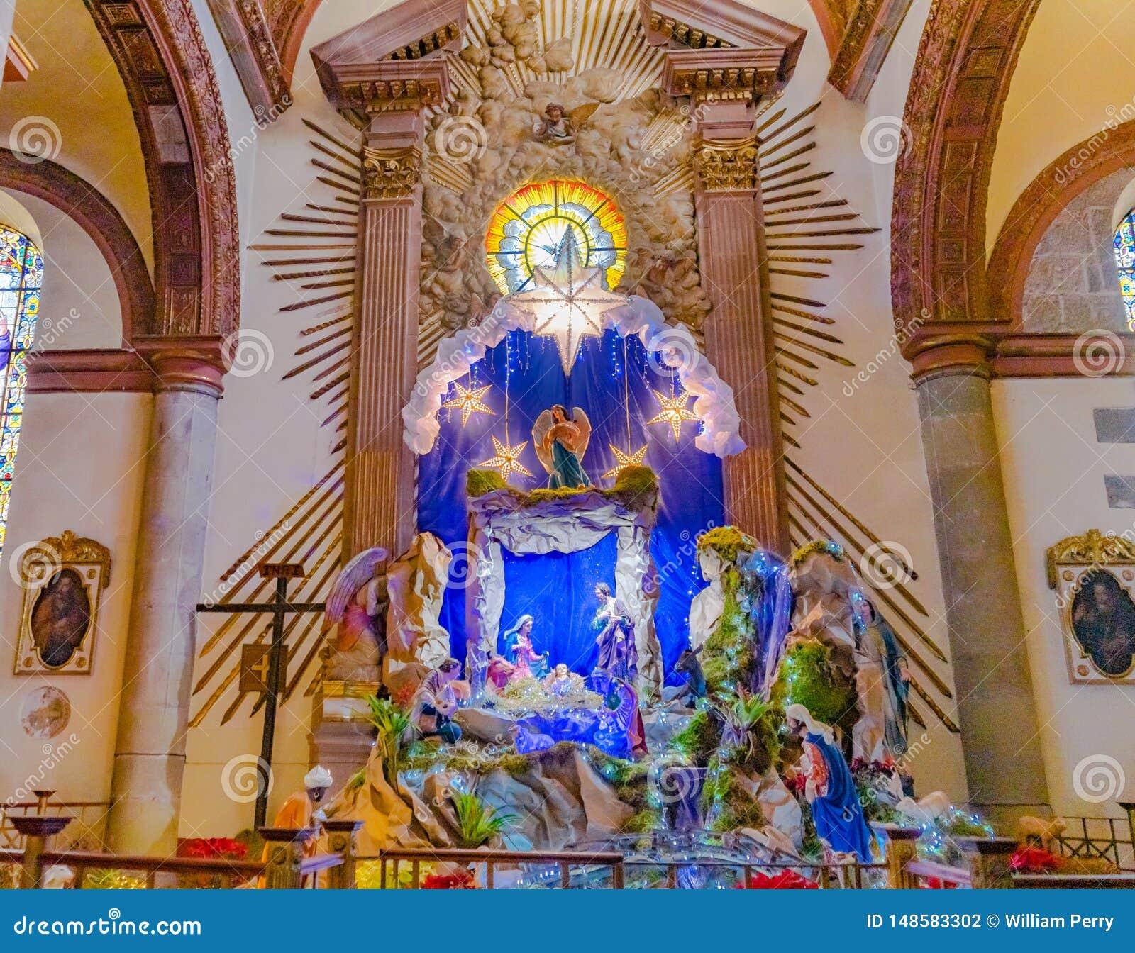 ?glise Oaxaca Mexique de Guadalupe Temple Convent Carmen Alto de garderie de No?l de basilique
