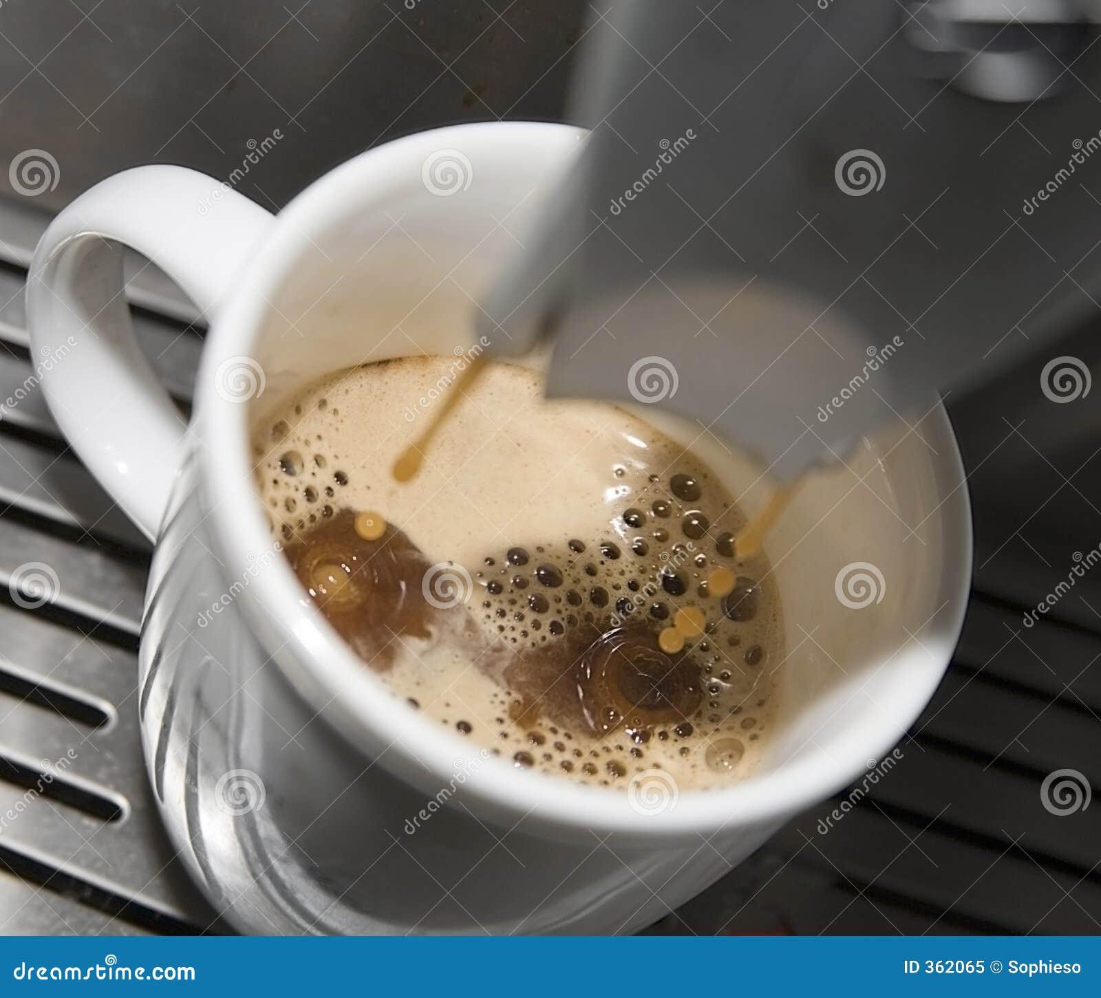 Égouttement de café express