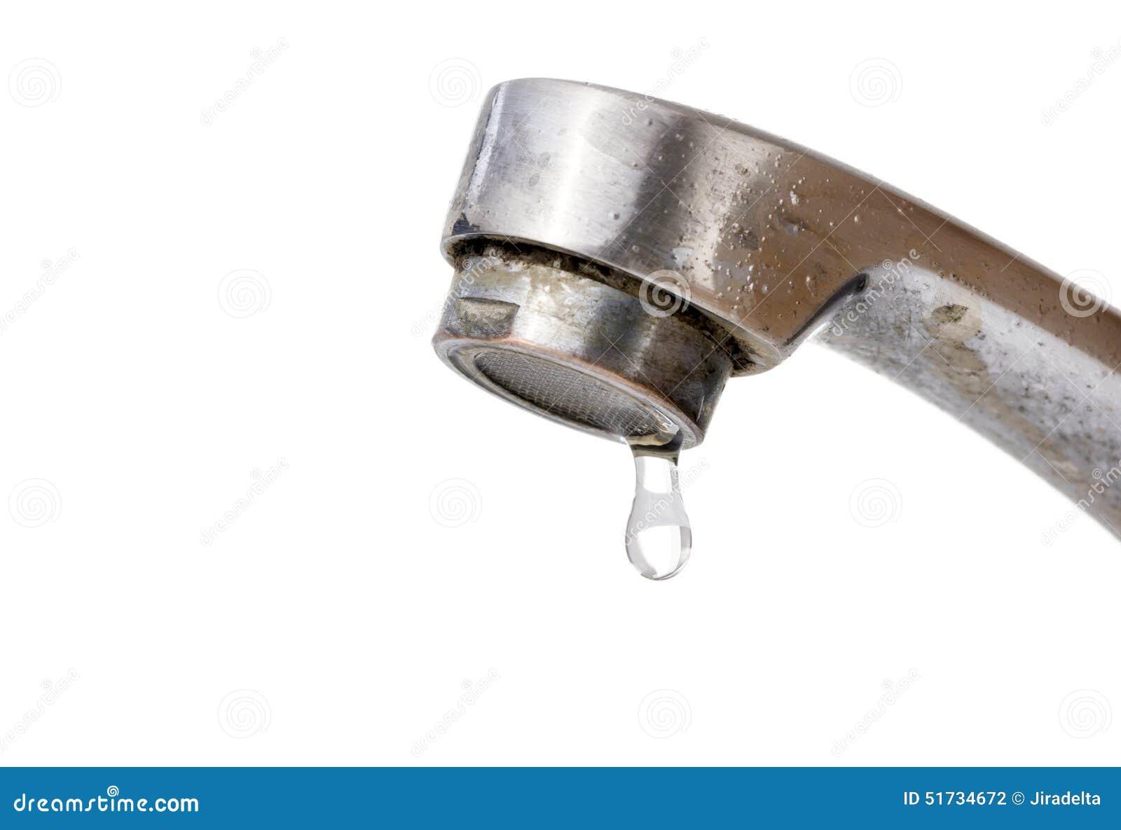 Égoutture de l eau de vieux robinet