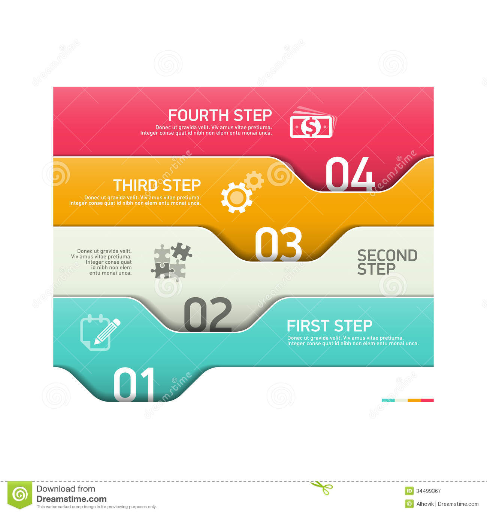 Élément abstrait d infographics