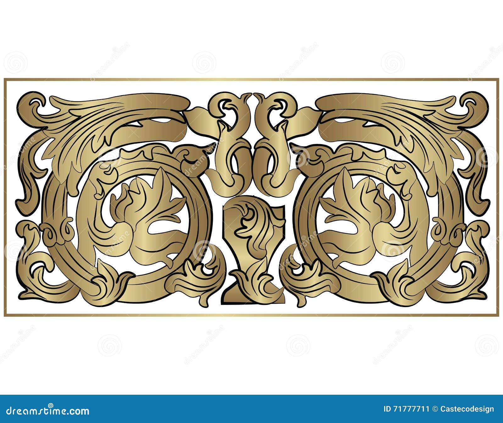 élément Classique Royal De La Renaissance Illustration Stock