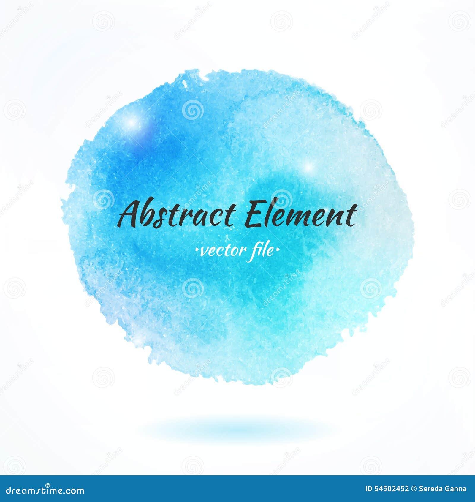 Élément coloré de vecteur d abrégé sur aquarelle