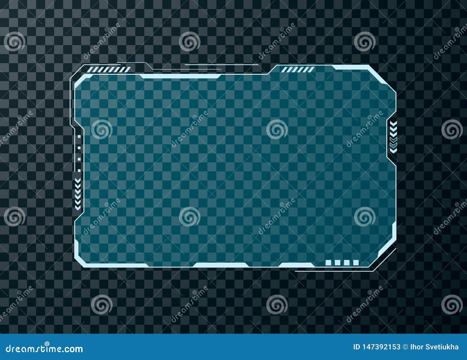 Élément d écran futuriste d interface utilisateurs de HUD Conception abstraite de disposition de panneau de commande Affichage vi