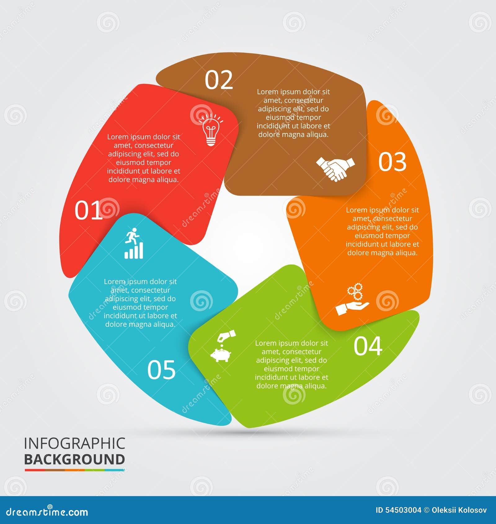 Élément de cercle de vecteur pour infographic