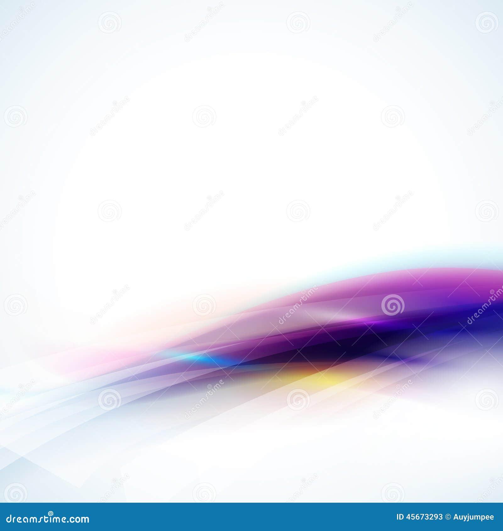 Élément de flux coloré doux abstrait sur le fond, le vecteur et l illustration blancs