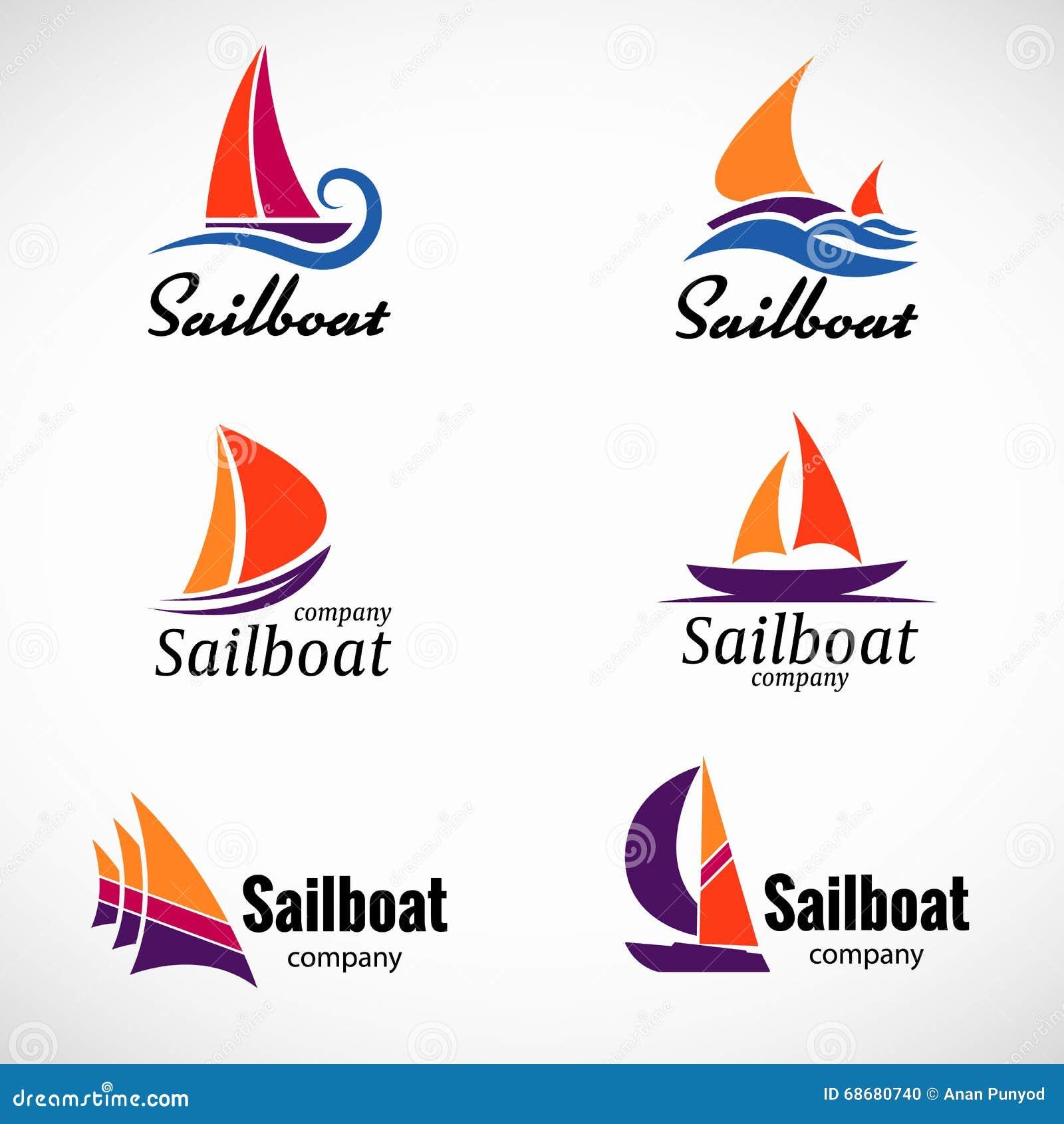 Lment De Scnographie Vecteur Logo Voilier Avec Le Calibre Carte Visite