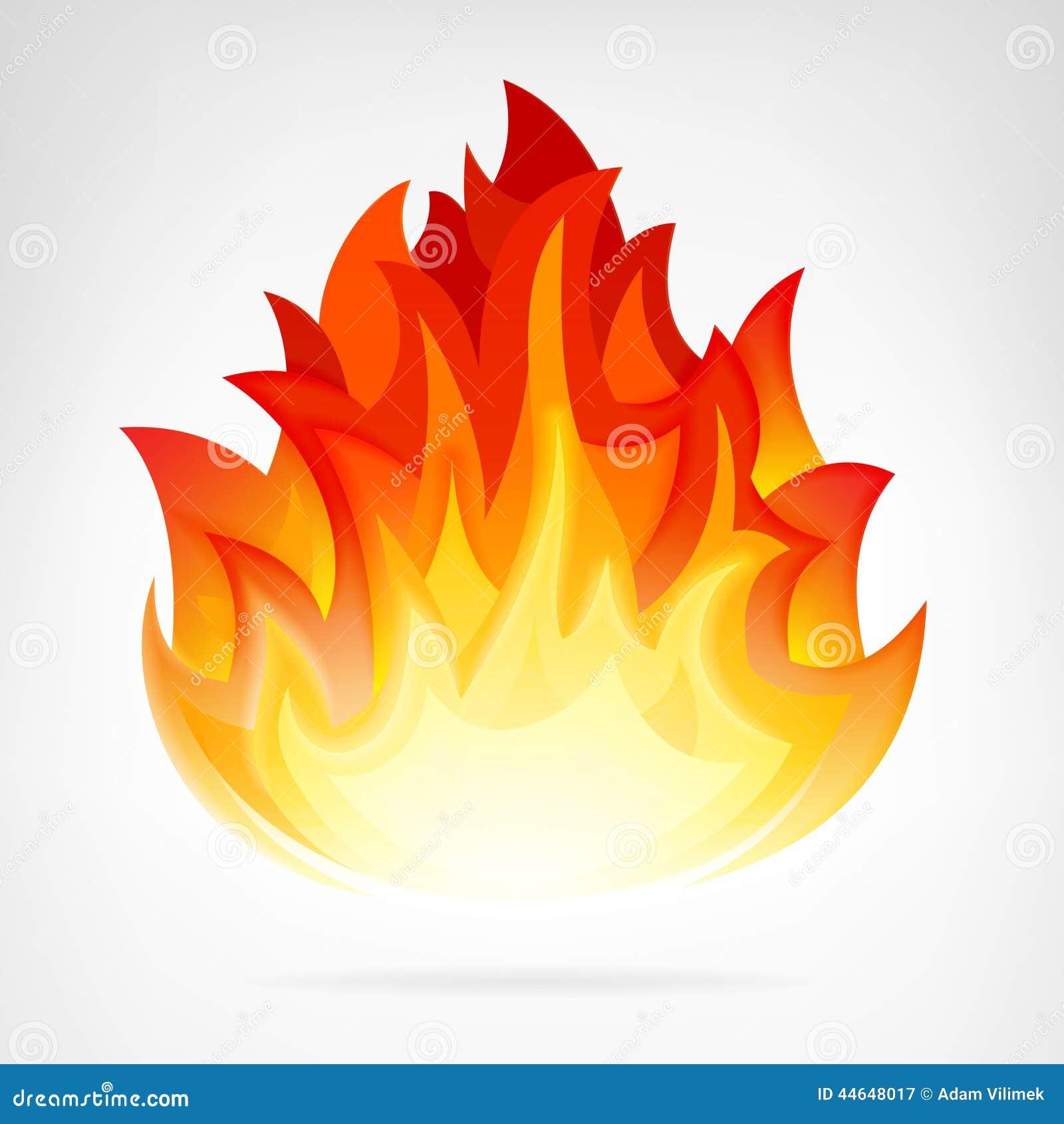 l ment de vecteur d 39 isolement par flamme du feu de for t. Black Bedroom Furniture Sets. Home Design Ideas