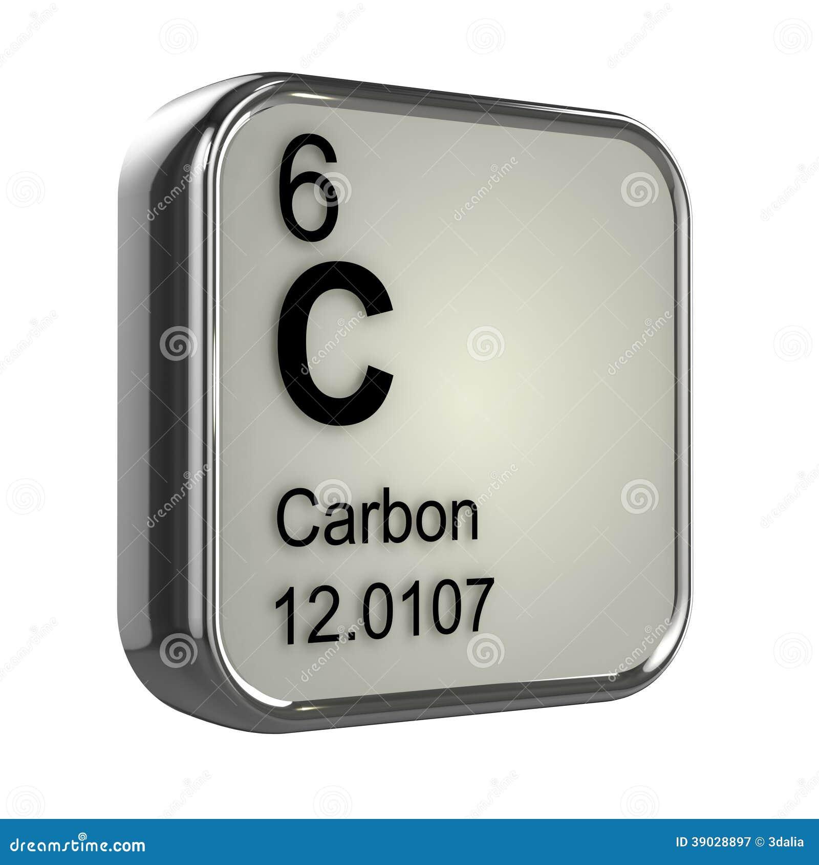 élément du carbone 3d