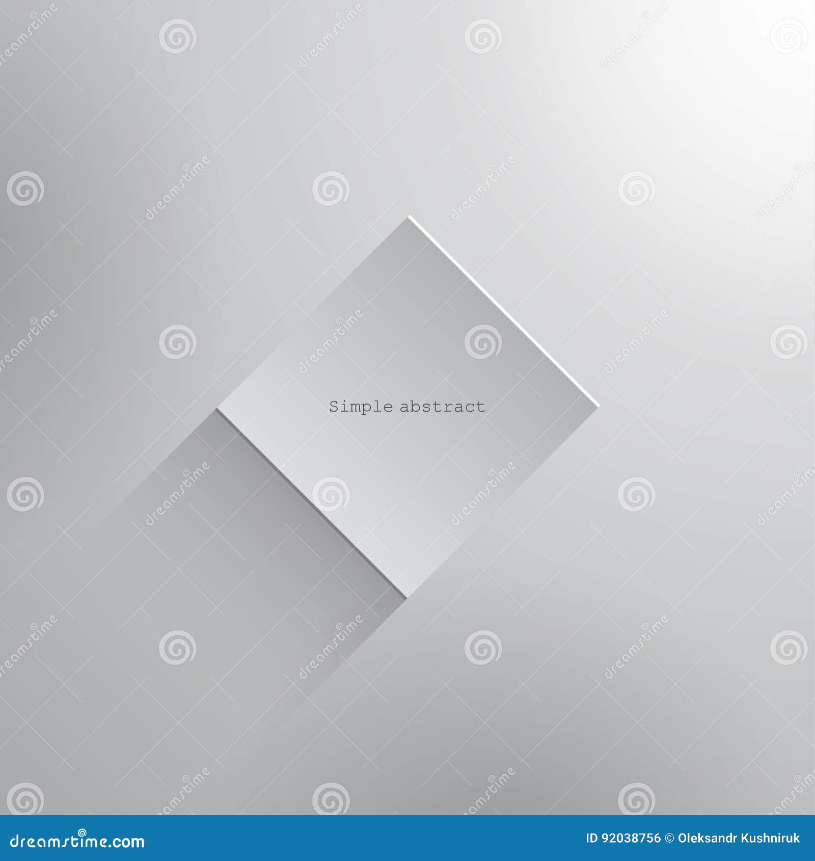 Element Geometrique De Place De Livre Blanc Avec L Ombre