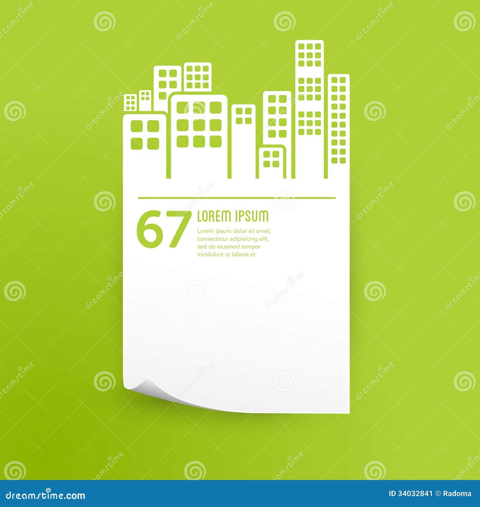 Élément infographic de conception de ville/bâtiments