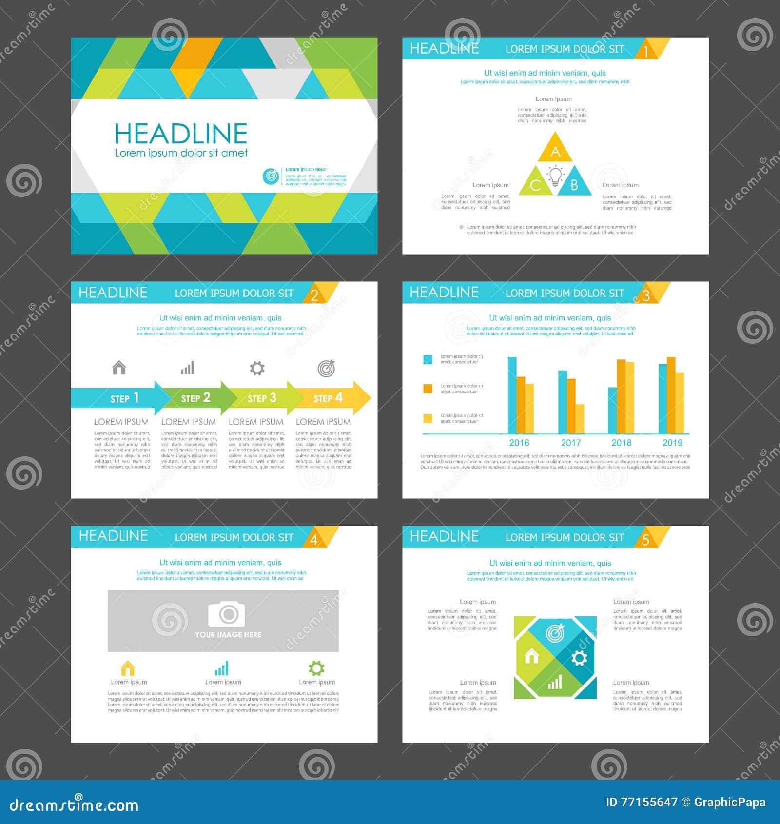 Éléments d Infographic pour des calibres de présentation