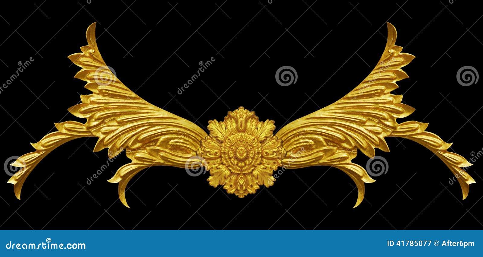 Éléments d ornement, conceptions florales d or de vintage
