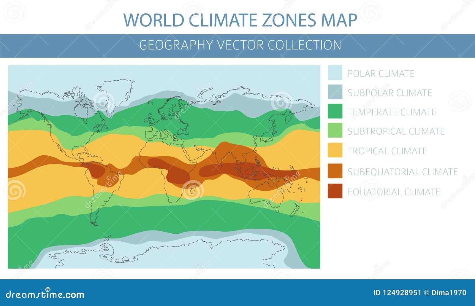 Elements De Carte De Zones Climatiques Du Monde Construisez Vos Propres Infos De Geographie Illustration De Vecteur Illustration Du Infos Carte 124928951