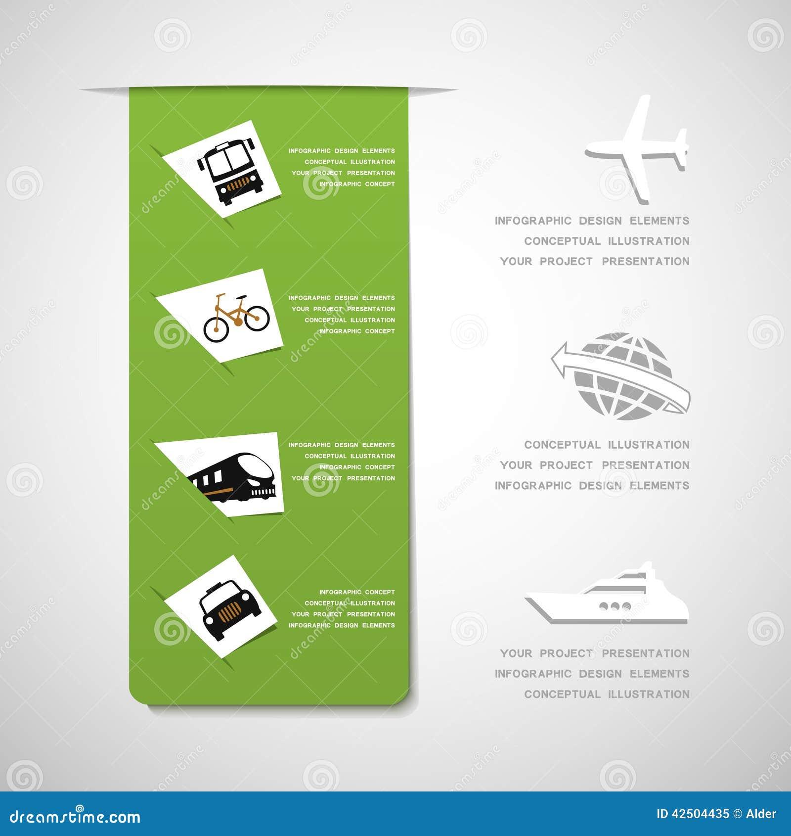 Éléments infographic de conception de transport