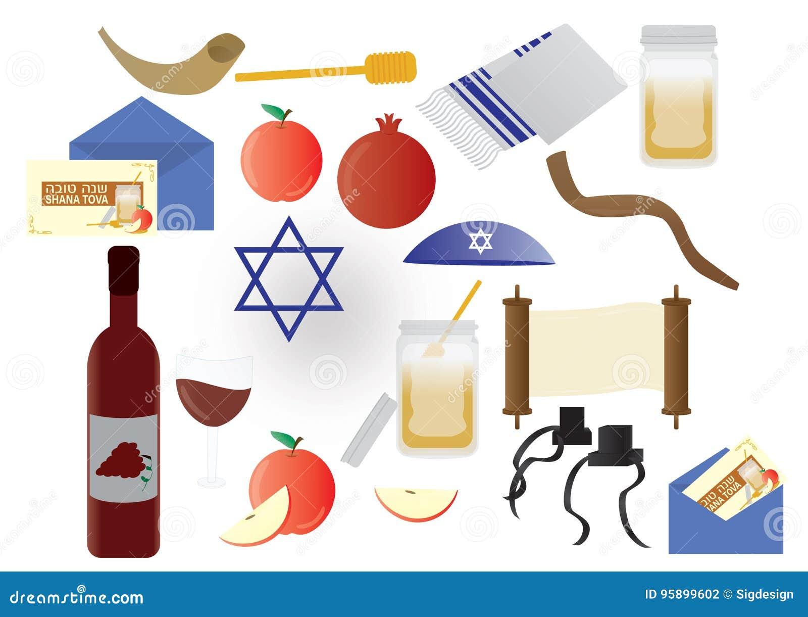 Éléments juifs de vacances de Rosh Hashana