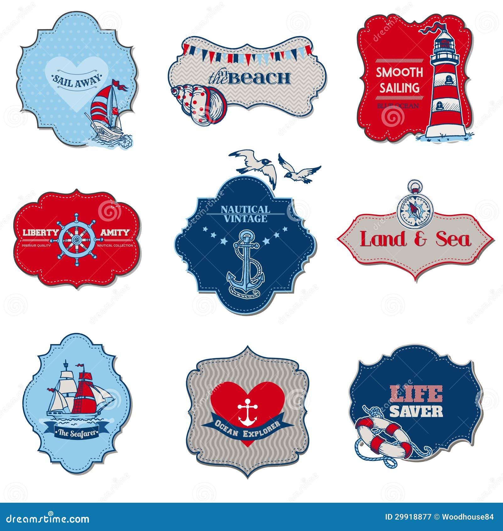 Éléments nautiques d étiquette de mer