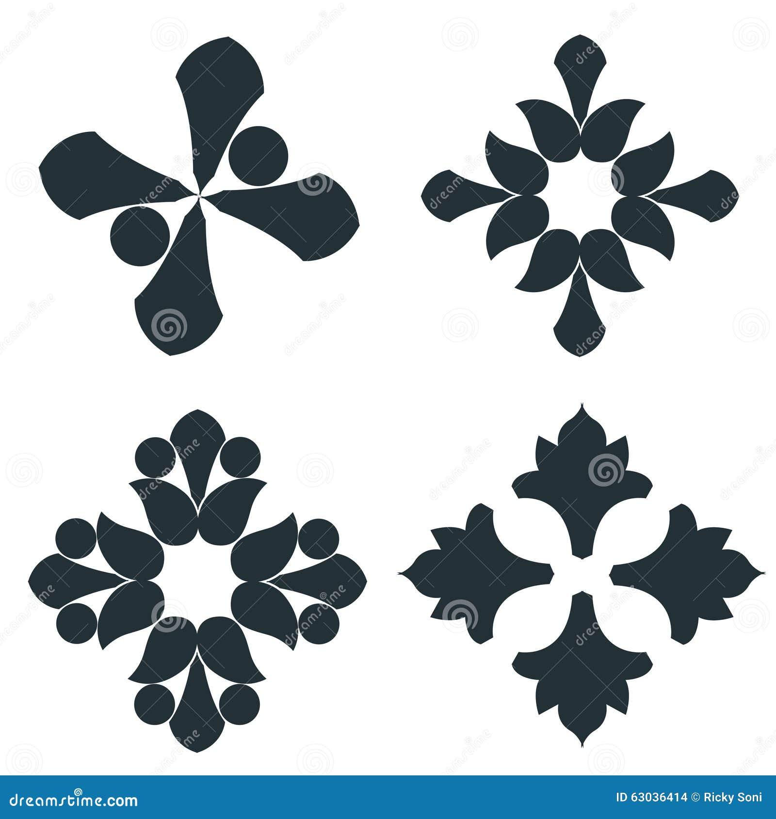 Éléments noirs et blancs