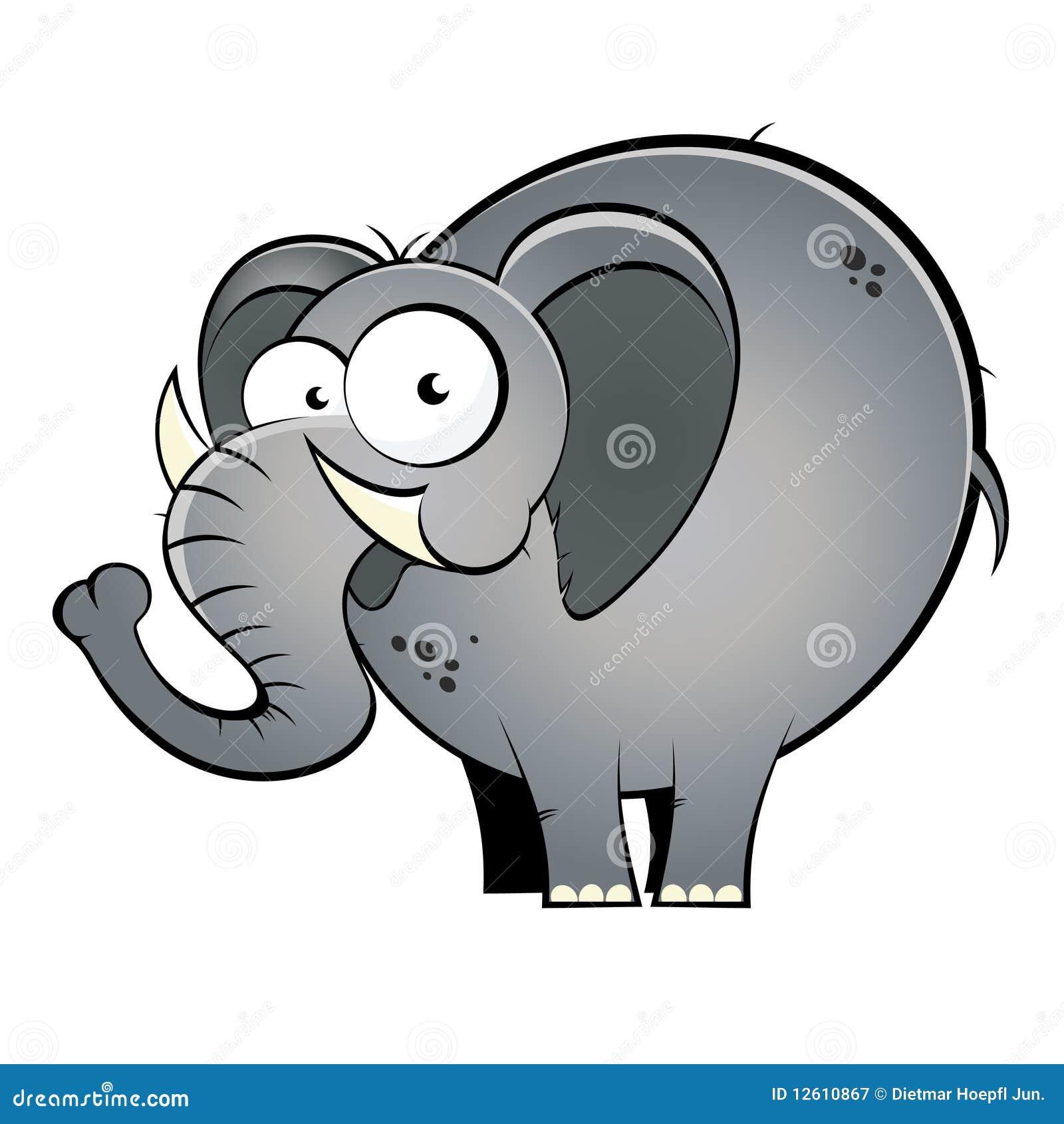L phant de dessin anim illustration de vecteur illustration du closeup 12610867 - Dessins d elephants ...