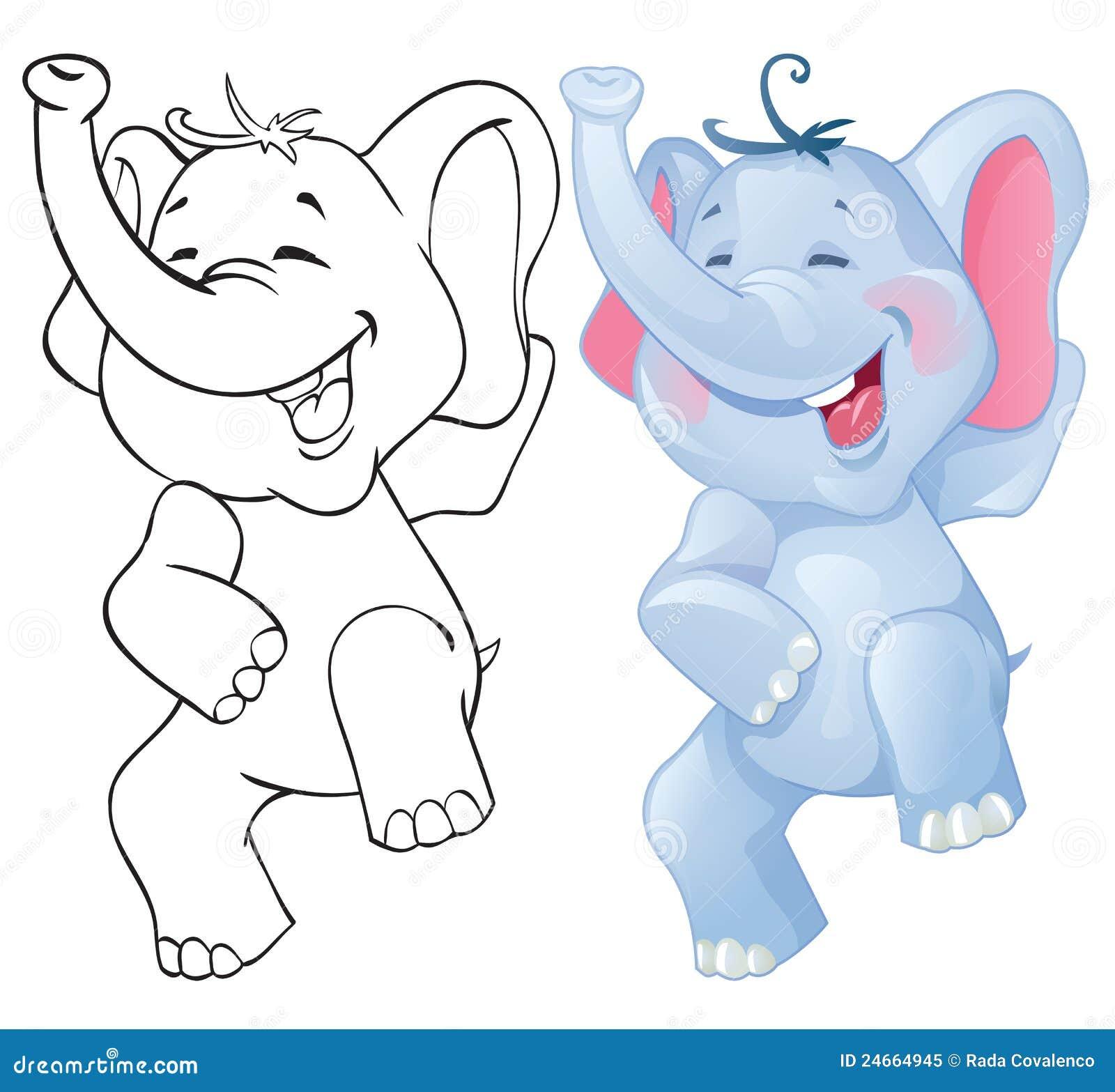 Éléphant drôle de dessin animé