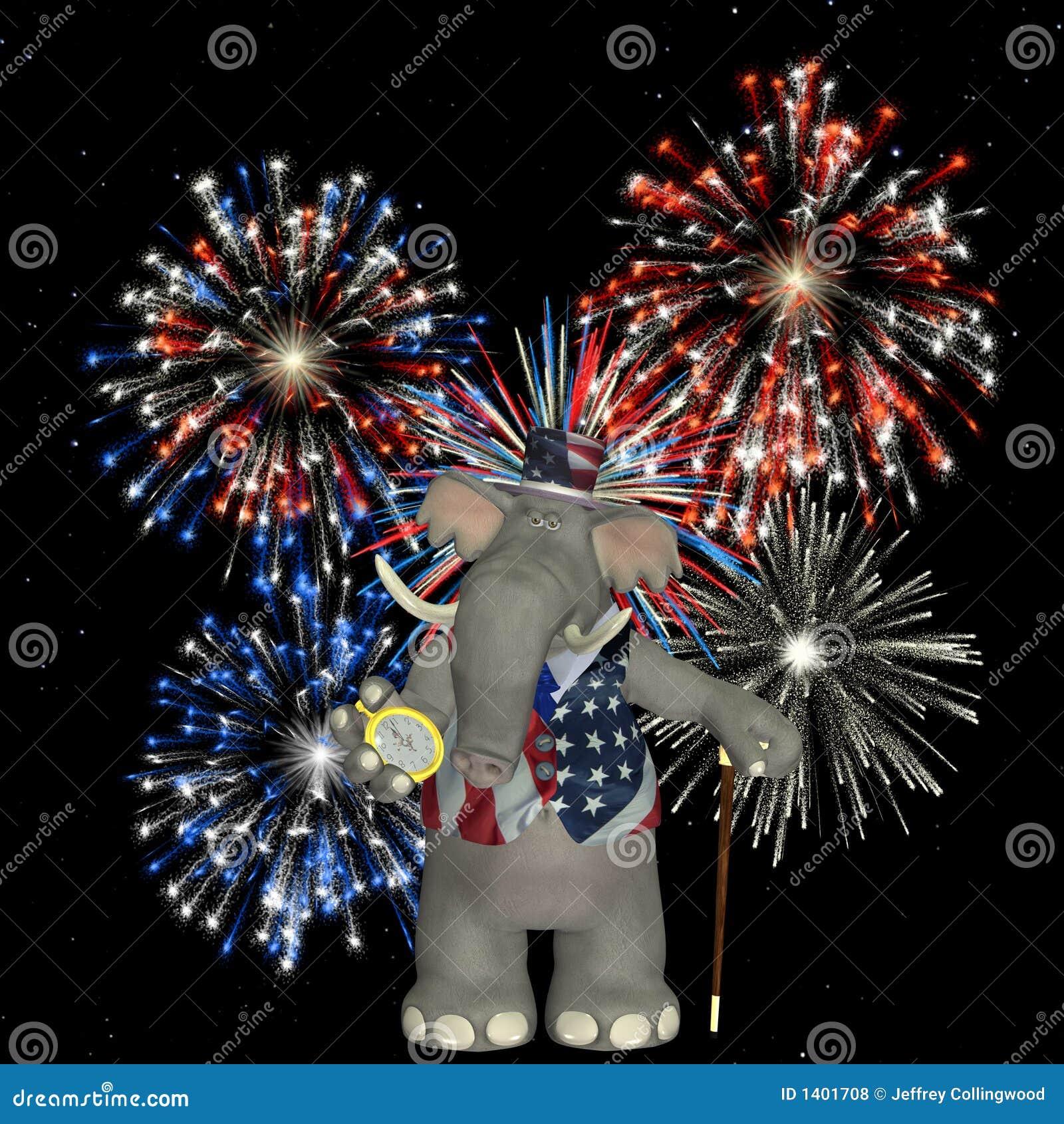 Éléphant politique - feux d artifice